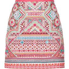 Monsoon Xenia Embroidered Skirt found on Polyvore featuring skirts, mini skirts, saia, bottoms, faldas, embroidered skirt, red skirt, short skirts, short mini skirts and holiday skirts