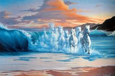 The Wave * Artist Jim Warren Fantasy Myth Mythical Mystical Legend Whimsy Hidden Surreal Nature