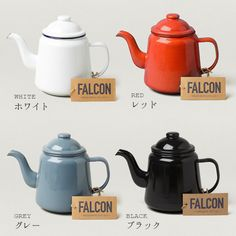 FALCONテーブルウェア Kitchen Interior, Tea Pots, Red And White, How To Plan, Cool Stuff, Tableware, Mood, Nice, Products