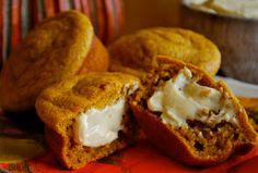 Food I Love: Pumpkin Muffins with Praline Cream Cheese