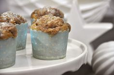 Krümelkreationen: Bananen-Zimt-Muffins mit Zimtstreuseln