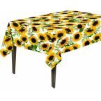 55 in. x 70 in. Indoor and Outdoor Sunflower Design Table Cloth for Dining Table, Yellow
