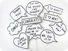 10 Signs Photobooth Props   Wedding Photo Props by MisterMustache, $47.00