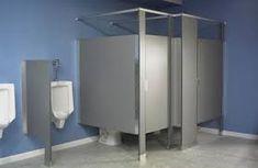 Understanding the Different Types of Bathroom Partitions Locker Room Bathroom, Bathroom Stall, Bathroom Furniture, Church Interior Design, Bathroom Interior Design, Exterior Design, Home Design, Design Ideas, Set Design
