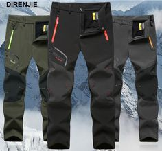 27.83$  Watch now - DIRENJIE 2017 Man Winter Fishing Waterproof Treval Outdoor Hiking Pants Camping Climbing trekking skiing Trousers Plus Size 5XL  #shopstyle