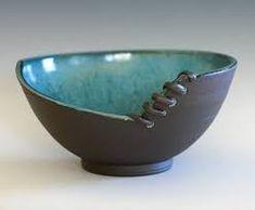 Unique Pottery Bowl, Handmade Ceramic Modern Bowl, pottery bowl, handthrown stoneware – Famous Last Words Pottery Plates, Slab Pottery, Pottery Mugs, Ceramic Pottery, Pottery Art, Ceramic Pots, Ceramic Clay, Beginner Pottery, Pottery Handbuilding