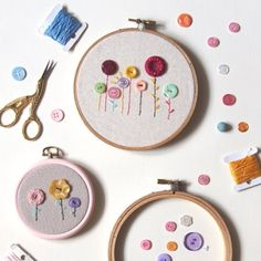 Learn new embroidery stitches with this button hoop-art DIY! Suitable for beginners and a great quick project for experienced stitchers! thanks so xox