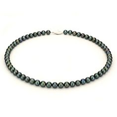 14k White Gold 7-8mm Black Freshwater Cultured Pearl Necklace AAA Quality, 14 Inch Choker Unique Pearl. Save 75 Off!. $138.95