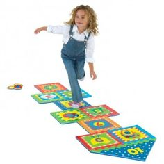 http://www.educationaltoysplanet.com/hopscotch-indoor-and-outdoor-play-set.html Hopscotch Indoor and Outdoor Play Set. The award-winning Hopscotch Indoor and Outdoor Play Set by Alex Toys features a colorful foam floor puzzle mat for kids favorite active hopping game.