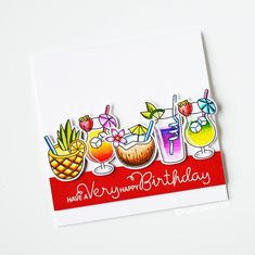 I hope you're not too fed up with my cards just yet, I did warn you at the beginning that there would be a lot of them this month haha! Birthday Sentiments, Birthday Cards, Happy Birthday, Diy Paper, Paper Crafts, I Card, Stamp Card, Scrapbooking, Clear Stamps