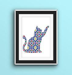 chat mosaïque à télécharger une touche marocaine par marauca