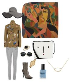"""""""Golden Hours"""" by nudespoonseuphoria on Polyvore featuring Lulu Guinness, Ann Demeulemeester, Isabel Marant, Fendi, Valentino, Blue Nile, Lacoste, Lauren B. Beauty, Kendra Scott and Boots"""