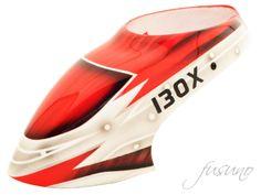 FUC-130LG06 FUSUNO Assassin Airbrush Fiberglass Canopy 130X Logo