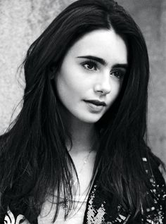 Lily Collins with a beautiful bold brow.