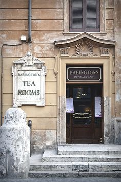 Babington's Tea Rooms, Piazza di Spagna, Rome. Not visited, but oh so famous! A dear old Roman friend loved it, so must visit in her memory.