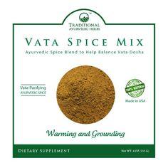 Vata Dosha Balancing Churna - Ayurvedic Spice - Kitchari Spice - Organic, Vegan, GMO-free (4 Ounces) *** Review more details @ : Fresh Groceries
