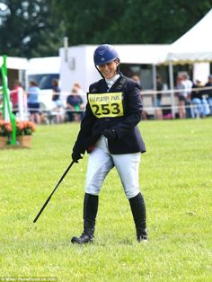 All smiles: Zara Phillips, pictured here, has reason to be happy as she enjoyed the glorio...