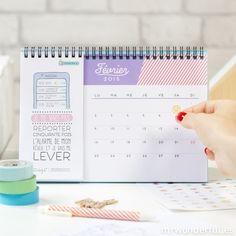 Calendrier de table 2015 - 365 jours pour décrocher la lune (FR) plein de bonnes résolutions réalistes, et si joli