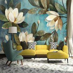 Цветы, цвета и вкусные оттенки - все, в одном сказочном интерьере гостиной