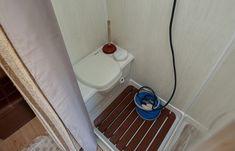 bathroom in converted van