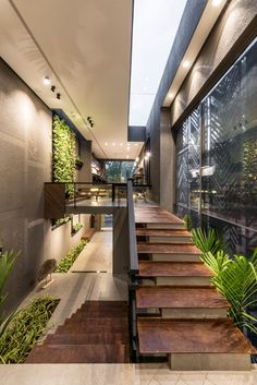 The Architects' Own Office Dream House Interior, Interior Garden, Home Interior Design, Exterior Design, Interior Concept, Small House Design, Dream Home Design, Modern House Design, Kerala House Design
