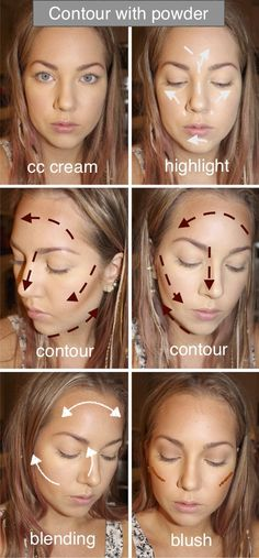 My contour with powder. Make up, tips and inspiration