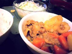 久々のお家ご飯(*´ω`*) - 29件のもぐもぐ - ほくほく♥肉じゃが&春雨サラダ(*/ω\*) by rurunyqn