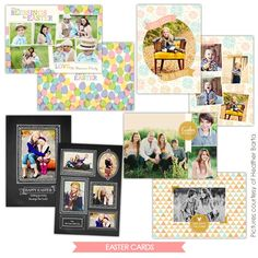 Easter photo cards templates