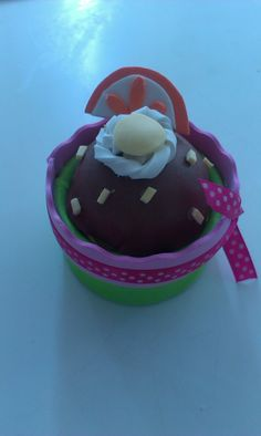 mi primer cupcake de goma eva..