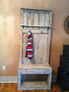 Entryway Coat Rack For Small Spaces. #reclaimed #bushelandapeck