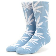 HUF Easter Plantlife Blue Weed Print Crew Socks