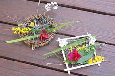 Nature Weaving Looms: cute idea!