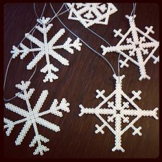 Winter snowflakes hama beads by dudditsness