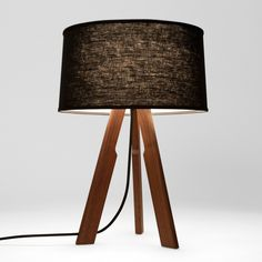 Solstice Table Lamp (black/black) | Ample: Modern Furniture and Lighting