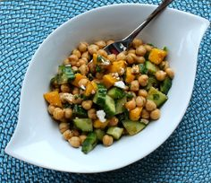 Chickpea and Mango Lunch Bowl
