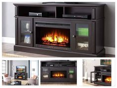 TV-Stand-With-Fireplace-Electric-Media-Center-Fake-Heater-Entertainment-Console