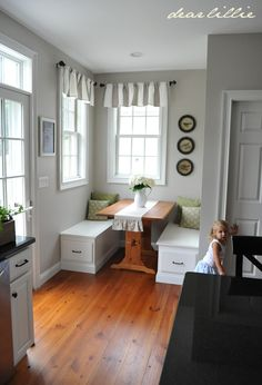 Revere Pewter by Benjamin Moore on the walls. I keep going back to this color...