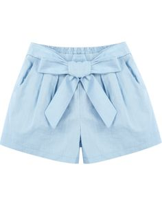 To find out about the Blue Elastic Waist Bow Pockets Shorts at SHEIN, part of our latest Pants ready to shop online today! Short Outfits, Kids Outfits, Summer Outfits, Short Dresses, Casual Outfits, Cute Outfits, Bow Shorts, Kids Shorts, Cute Shorts