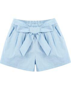 Shorts bolsillos cintura elástica-azul 10.68