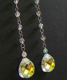 Long Chandelier Teardrop Earrings Sterling Silver