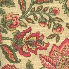 MILL CREEK RAYMOND WAITES LOYLA CHAMPAGNE FLORAL DRAPERY UPHOLSTERY FABRIC Similar to what we now have