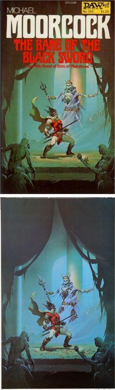 MICHAEL WHELAN - The Bane of the Black Sword by Michael Moorcock - 1977 DAW Books - cover by isfdb - print by wonderful-strange.tumble.com