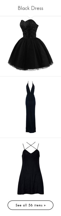 """""""Black Dress"""" by the-light-behind-your-eyes ❤ liked on Polyvore featuring dresses, vestidos, short dresses, robe, short black cocktail dresses, black cocktail dresses, black sweetheart dress, black mini dress, gowns and long dresses"""