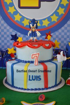 Sonic The Hedgehog Birthday Party Cake See More Ideas At CatchMyParty