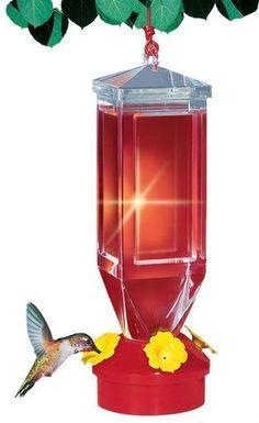 Perky-Pet Plastic Lantern Design Hanging Hummingbird Feeder for Wild Bird 18oz