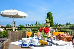 Breakfast on the terrace of a room.... www.villamaria.tv #Desenzano #lagodigarda #gardasee #gardalake