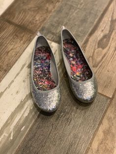 e814d71d6369 women s size 7 glitter sliver flat faded glory  fashion  clothing  shoes   accessories