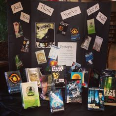 MSHS Library Dystopian Book Display