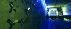 Denver International Airport   Kinetic Air Light Curtain  Antonette Rosato and William Maxwell  Passenger Train Tunnel