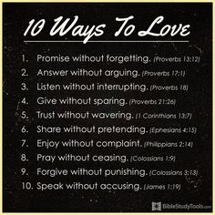 10 Ways to Love #inspirations #love #faith